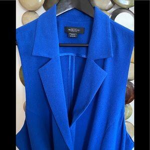Michel Studio Royal Blue Long Vest